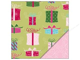 Holiday Sale Printed Cardstock: Bazzill Paper 12x12 No Peeking/Stitched Pink