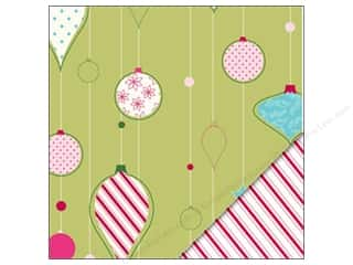 Holiday Sale Printed Cardstock: Bazzill Paper 12x12 Trim A Tree/Peppermint Stick