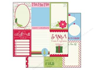 Clearance Bazzill Lickety Slip Journaling Cards: Bazzill 12 x 12 in. Paper Lickety Slip Holiday Style Vertical 25 pc.