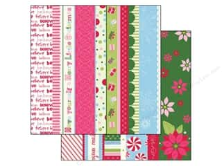 Holiday Sale Printed Cardstock: Bazzill 12 x 12 in. Paper Holiday Style Borders 25 pc.