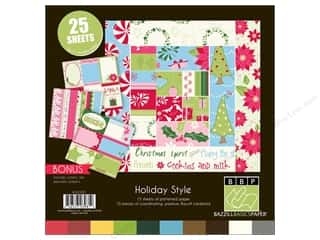 Holiday Sale Designer Papers &amp; Cardstock: Bazzill Multi Pack 12x12 Holiday 25pc