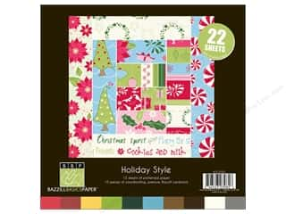 Cardstock  8x8: Bazzill Multi Pack 8x8 Holiday 25pc