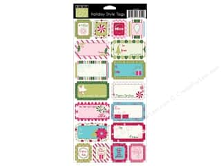 Emboss Bazzill Cardstock -swiss: Bazzill Cardstock Stickers 18 pc. Holiday Style Tags