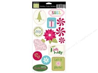 sticker: Bazzill Cardstock Stickers 14 pc. Holiday Style Embellishments