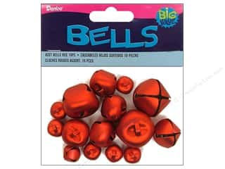 Basic Components Size: Darice Jingle Bells Assorted Size Red 19 pc.