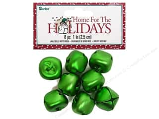 Darice Bells 25mm Matte Green 8pc