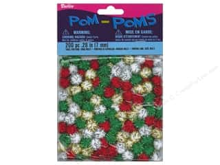 Pom Poms tinsel: Darice Pom Poms 7mm Christmas Tinsel Multi 200pc