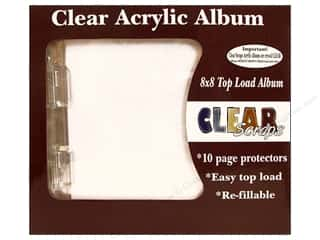 Clear Scraps Album Cast Acrylic 8x8 Deco