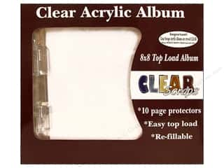 Clear Scraps Acrylic Shape: Clear Scraps Acrylic Top Load Album 8 x 8 in. Scallop
