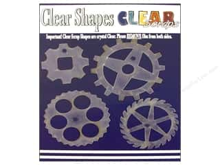 Clear Scraps Shapes Clear Gears 4pc