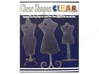 Clear Scraps Shapes Clear Dress Forms 3pc