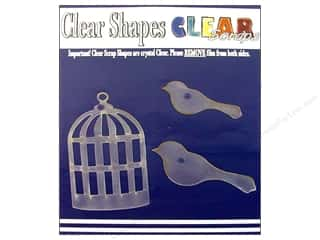 Clear Scraps $3 - $4: Clear Scraps Clear Shapes 3 pc. Bird Cage