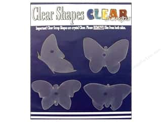 Clear Scraps Shapes Clear Butterflies 4pc