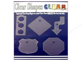 Clear Scraps Shapes Clear Road Trip 5pc