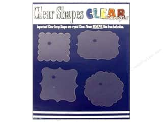 Clear Scraps Shapes Clear Frames 4pc