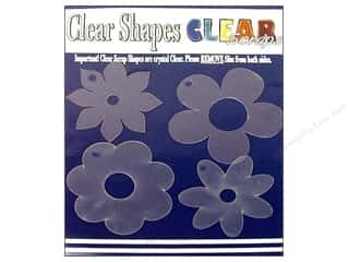 "Clear Scraps 12"": Clear Scraps Clear Shapes 4 pc. Flowers"