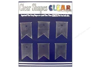 Clear Scraps Acrylic Shape: Clear Scraps Clear Shapes 6 pc. Pennants