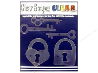 Clear Scraps Shapes Clear Keys &amp; Locks 5pc