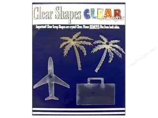 Clear Scraps Acrylic Shape: Clear Scraps Clear Shapes 4 pc. Vacation