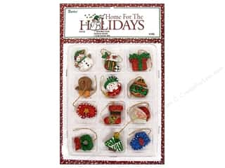 "Darice Holiday Decor Ornament Christmas Figure 1"" 12pc"