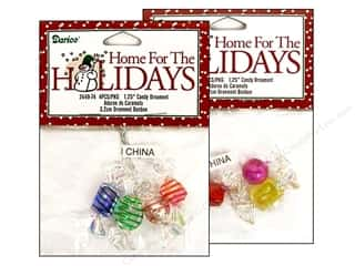 Darice Holiday Ornm Candy 1.25&quot; Assorted 4pc