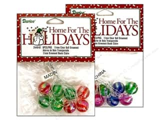 Darice Holiday Decor Ornament Ball 11mm Clear Assorted 8pc