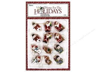 "Darice Holiday Ornm Christmas Fig 1"" Resin 12pc"