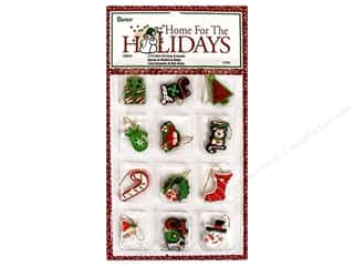 Darice Holiday Ornm Christmas 1.5&quot; Resn 12pc