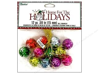 Darice Holiday Decor Ornament Ball 15mm 12pc