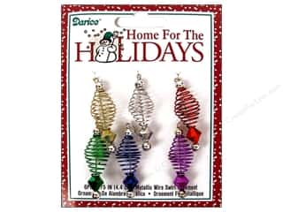 Darice Holiday Ornm Wire Swirl 1.75&quot; Multi 6pc