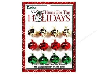 "Darice Holiday Ornm Onion .75"" Multi 12pc"