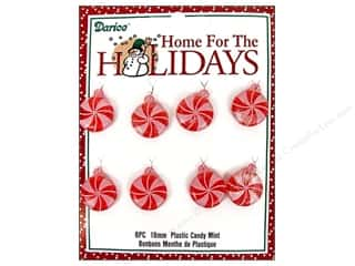 Darice Holiday Decor Ornament 18mm Plastic Mint Candy 8pc