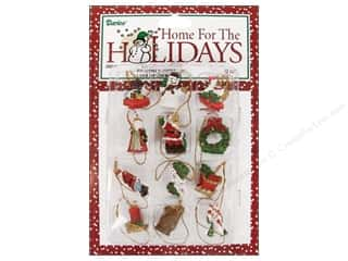 "Darice Holiday Decor Ornament .75"" Mini Christmas 12pc"