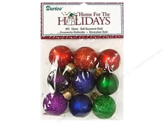 Holiday Sale Paper Mache Ornaments: Darice Ball Ornaments 1 3/16 in. Assorted 9 pc.