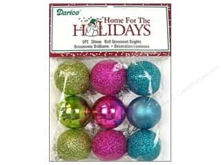 Darice Holiday Decor Ornm Ball 30mm Brights 9pc