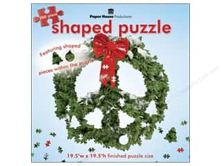 Paper House Shaped Puzzle Peace Sign Wreath