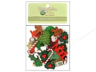 buttons: Buttons Galore Value Pack 50 pc. Holiday