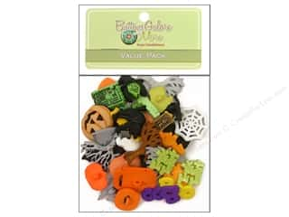 Halloween Spook-tacular: Buttons Galore Value Pack 50 pc. Halloween