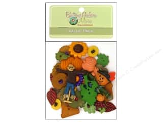 Fall / Thanksgiving inches: Buttons Galore Value Pack 50 pc. Autumn