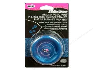 Painting Blue: Tulip Fashion Glitter Fabric Paint Shimmer Blue 1.75 oz.