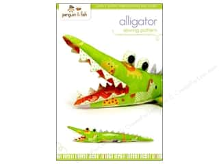 Dolls and Doll Making Supplies $2 - $4: Penguin & Fish Alligator Sewing Pattern