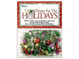 Darice Holiday Decor Bulb Garland 8mm Metallic 6ft