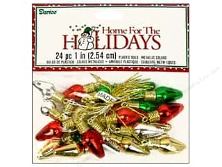 "Darice Holiday Decor Bulb 1"" Plastic Metallic Multi 24pc"