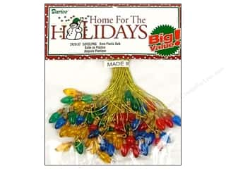 Darice: Darice Holiday Bulb 8mm Plastic Trans Multi 50pc