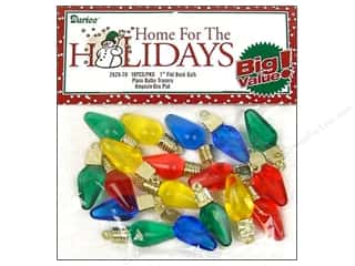 Darice Holiday Bulb 1&quot; Flat Back Transparent 18pc