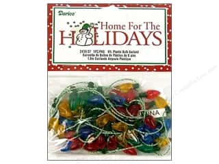 Darice Holiday Decor Bulb 8mm Plastic Garland Transparent 6ft