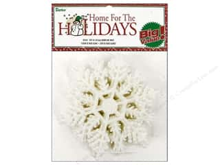 "Darice Holiday Decor Snowflake 4"" White 12pc"