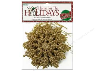 Darice Holiday Decor Snowflake 4&quot; Gltr Gold 12pc