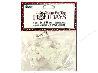 Darice Holiday Decor Snowflake1&quot; Iridescent 4pc