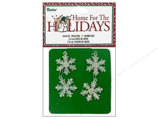 "Darice Holiday Decor Snowflake 1"" Iridescent 4pc"
